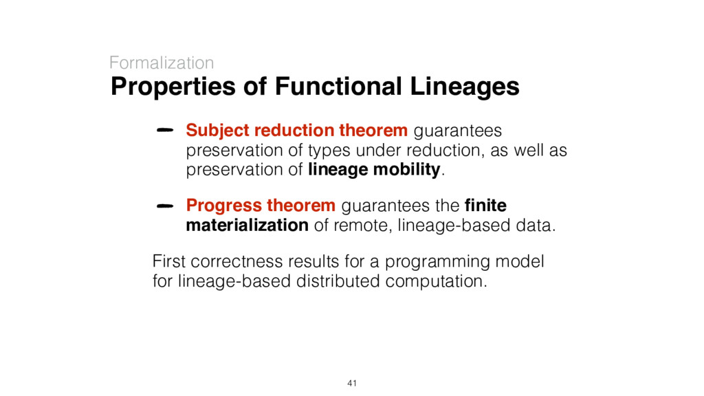 Properties of Functional Lineages Formalization...
