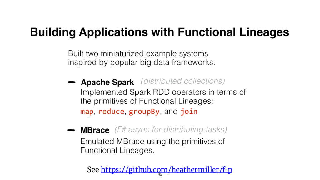 Building Applications with Functional Lineages ...