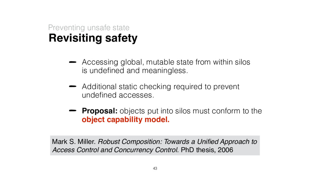 Revisiting safety Preventing unsafe state Acces...