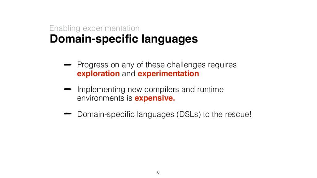 Domain-specific languages Enabling experimentati...