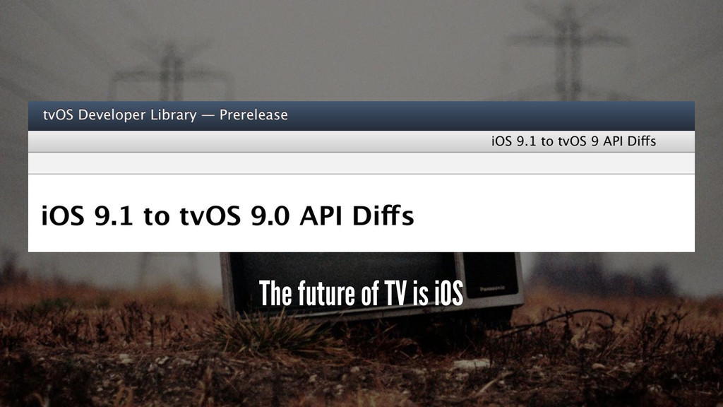 The future of TV is iOS