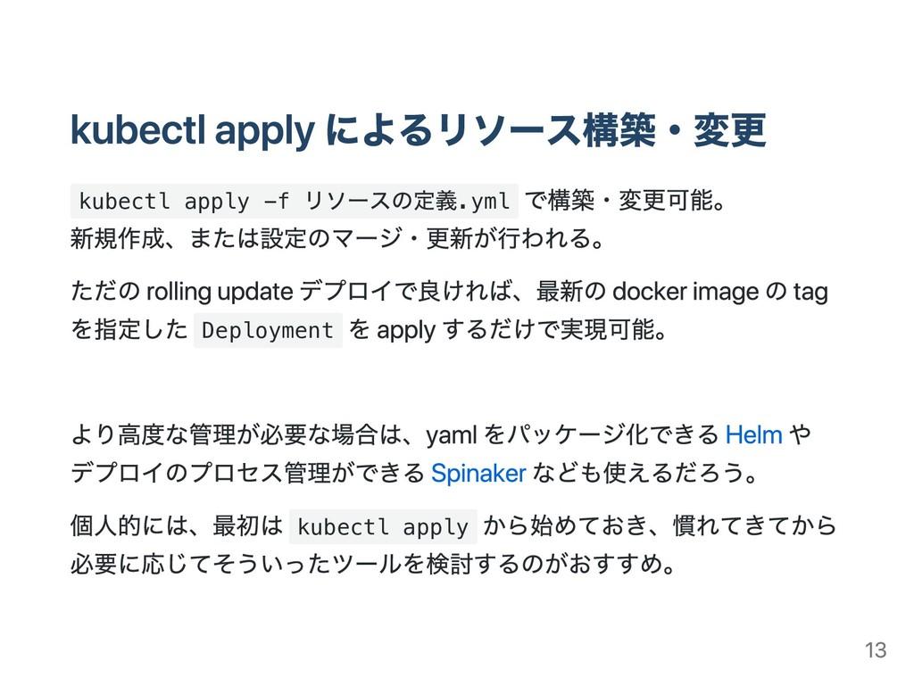 kubectl apply -f .yml Deployment kubectl apply