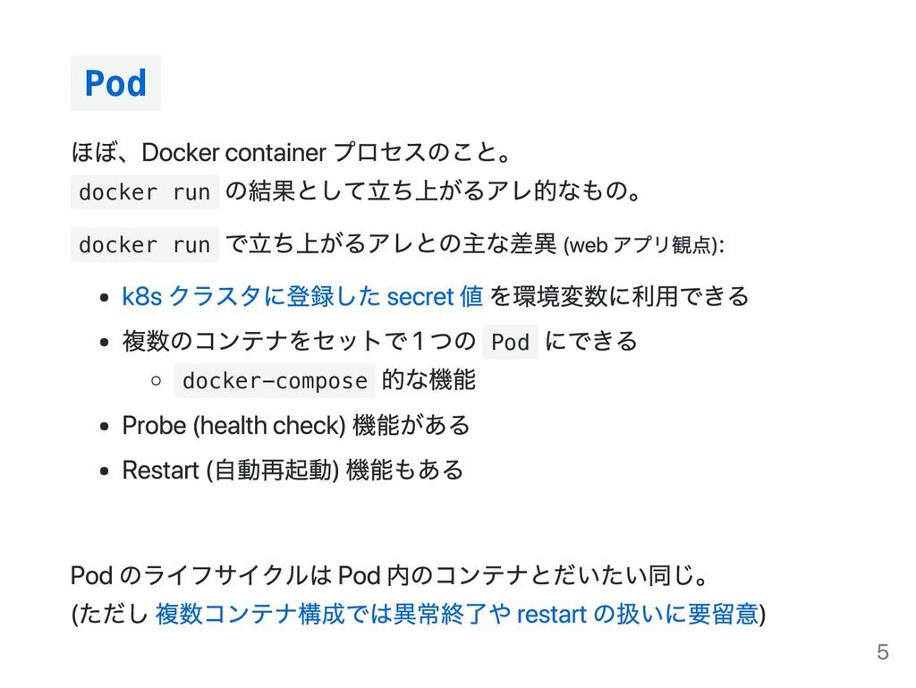 Pod docker run docker run Pod docker-compose