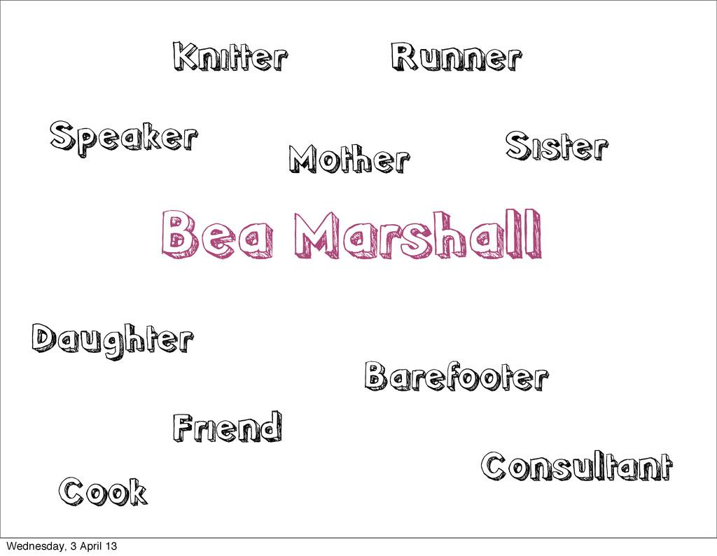 Bea Marshall Speaker Mother Sister Daughter Fri...