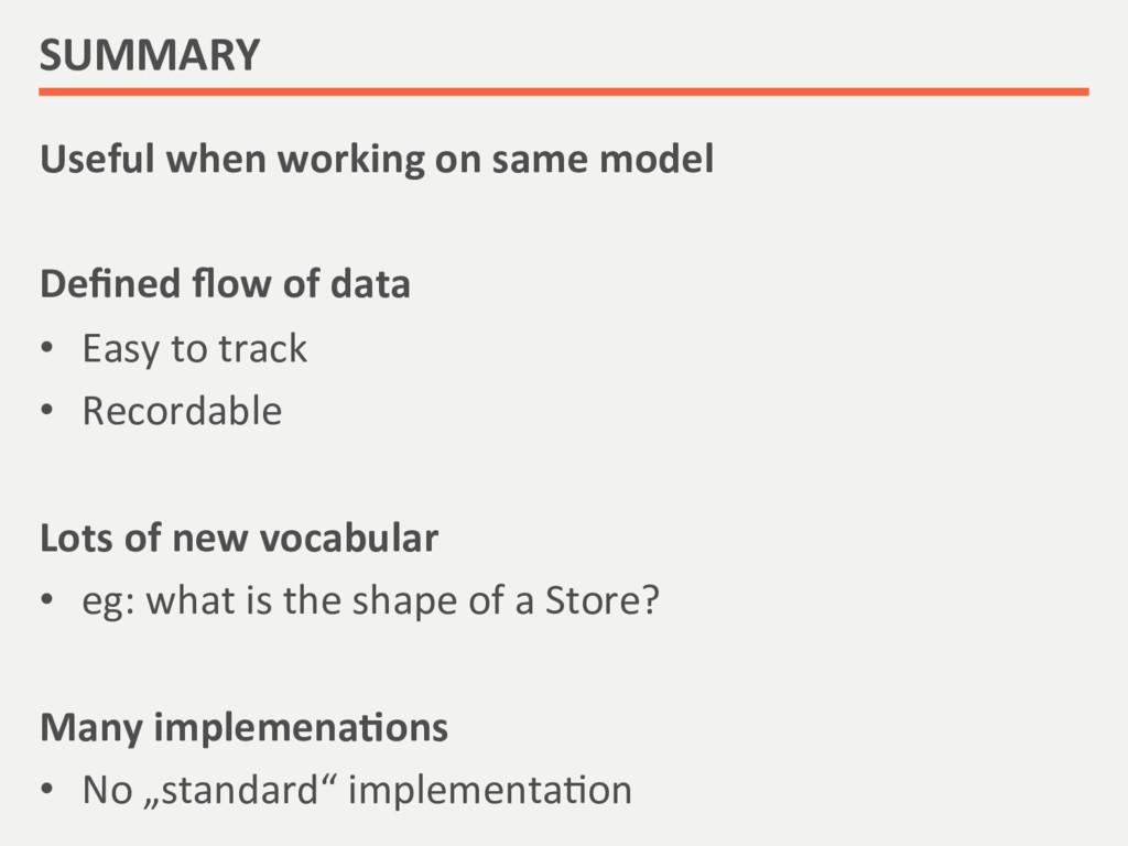 Useful when working on same mode...