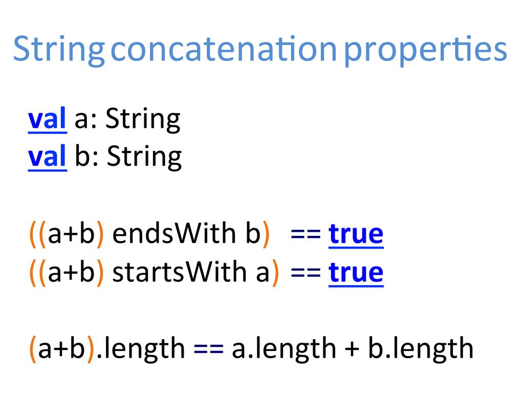 val a: String  val b: String ...