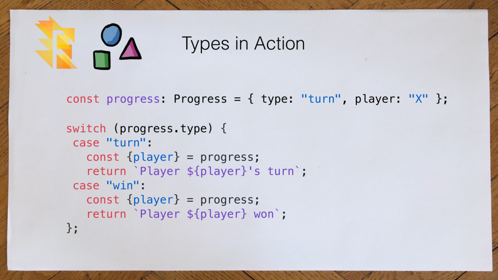 """Types in Action switch (progress.type) { case """"..."""