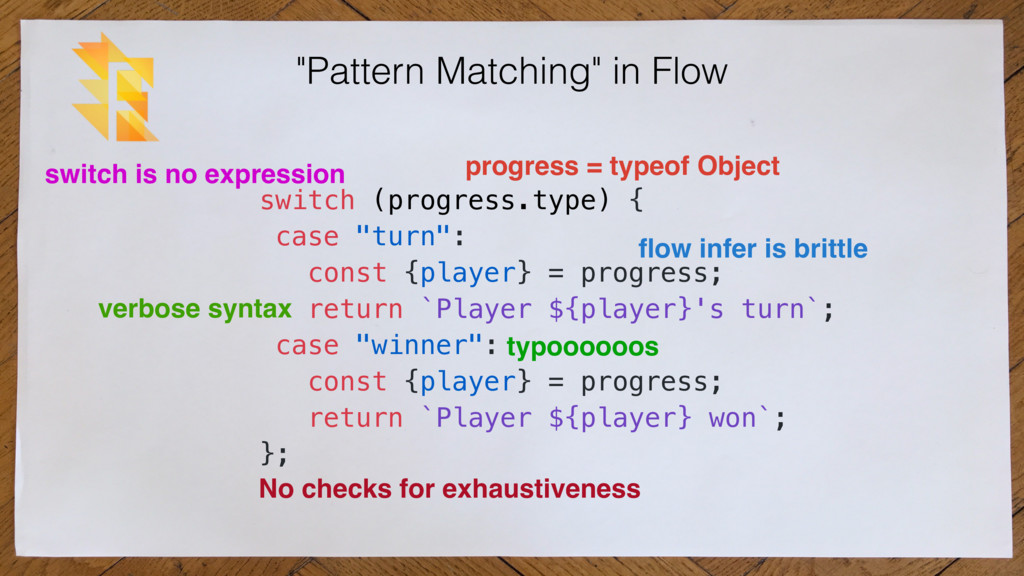 """Pattern Matching"" in Flow switch (progress.typ..."