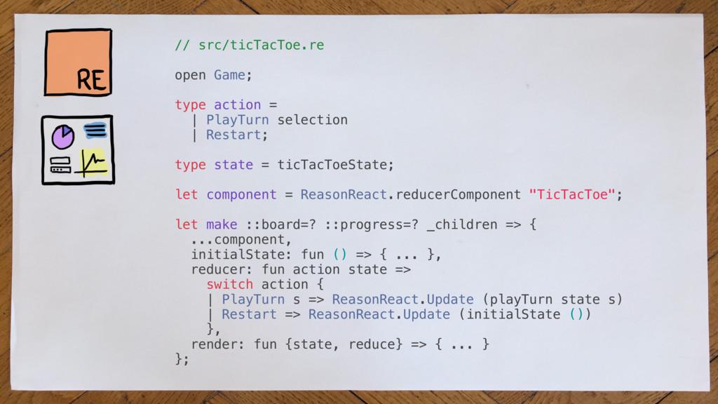 // src/ticTacToe.re open Game; type action = | ...
