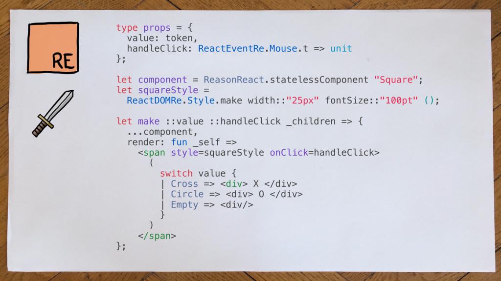 type props = { value: token, handleClick: React...