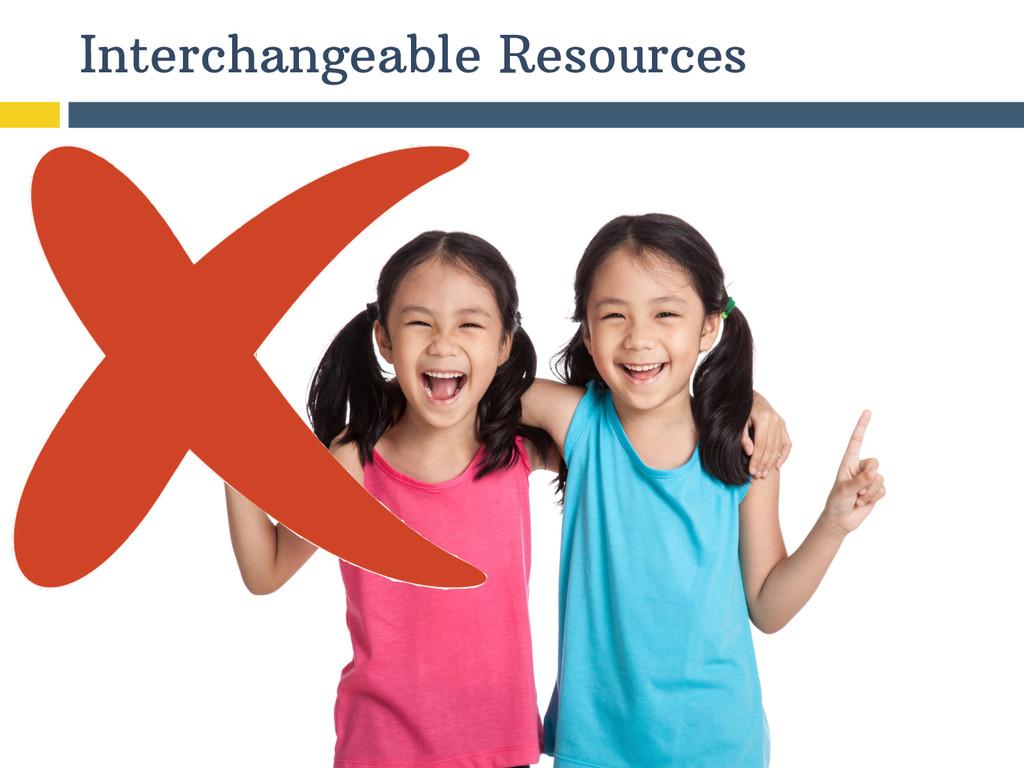 Interchangeable Resources