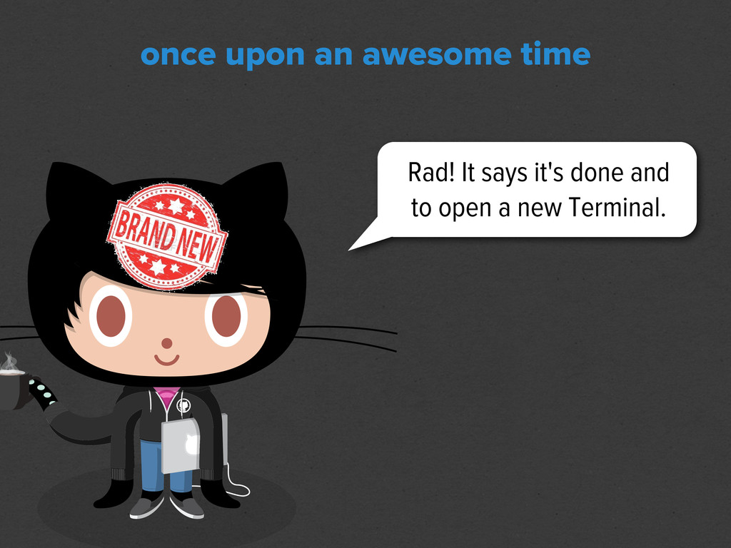 Rad! It says it's done and to open a new Termin...