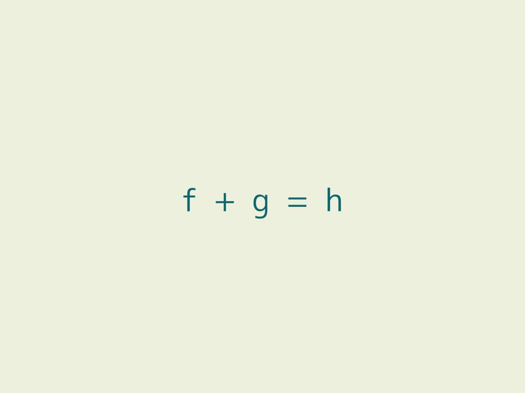 f + g = h