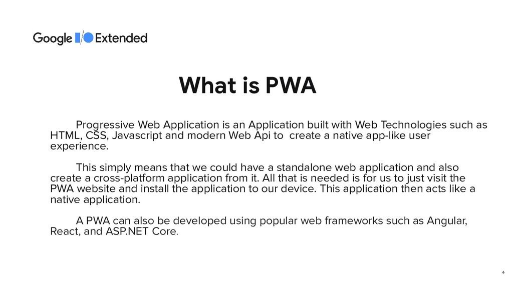 What is PWA Progressive Web Application is an A...