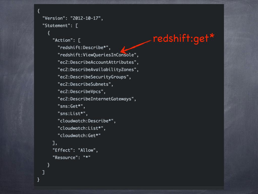 redshift:get*