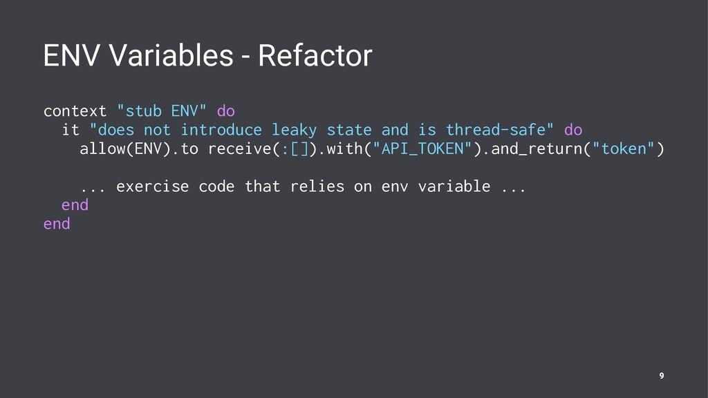 "ENV Variables - Refactor context ""stub ENV"" do ..."