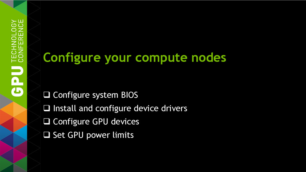 Configure your compute nodes  Configure system...