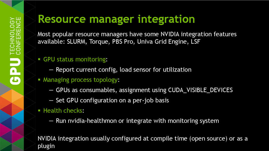 Resource manager integration Most popular resou...