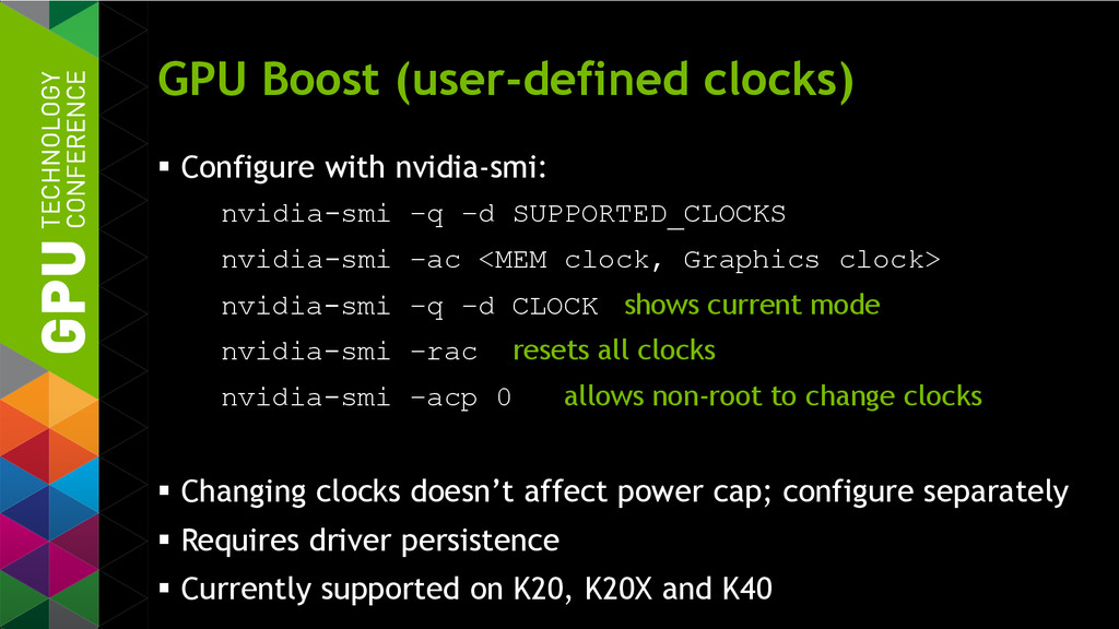 GPU Boost (user-defined clocks)  Configure wit...