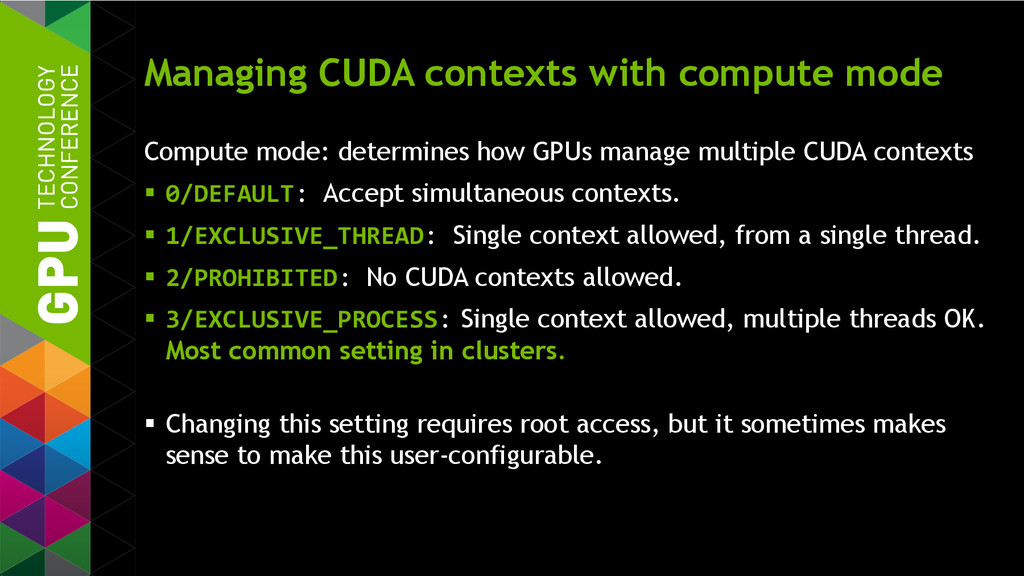 Managing CUDA contexts with compute mode Comput...