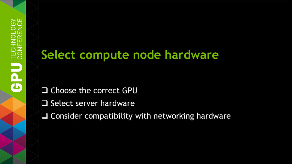 Select compute node hardware  Choose the corre...