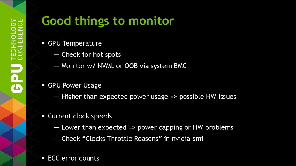 Good things to monitor  GPU Temperature — Chec...