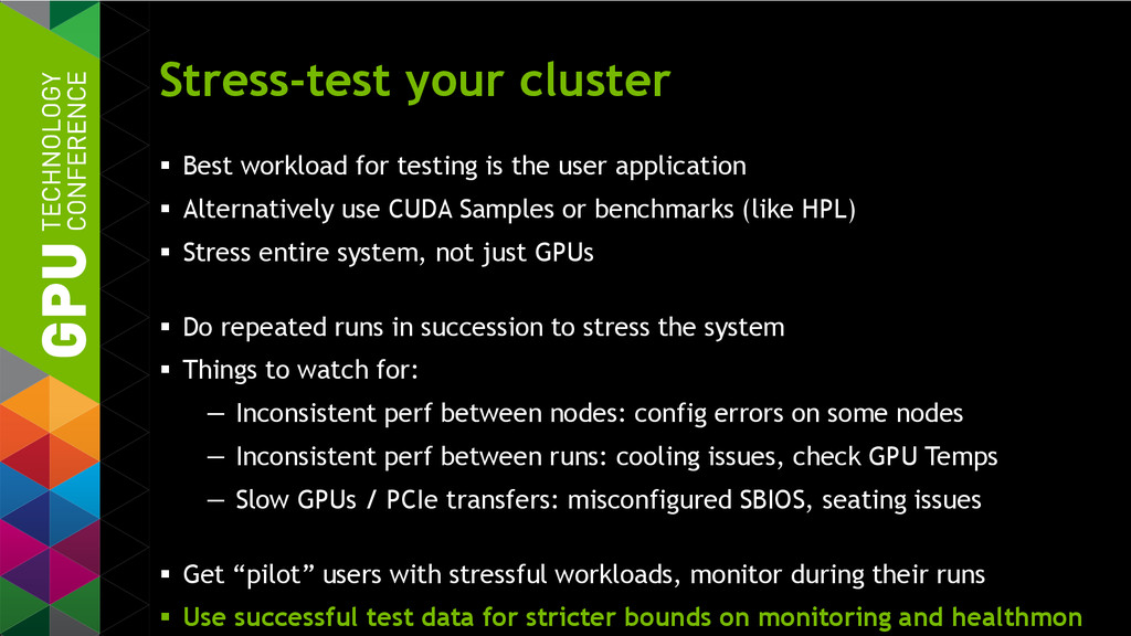 Stress-test your cluster  Best workload for te...
