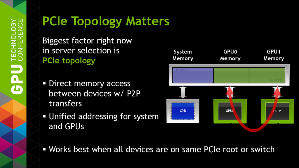 PCIe Topology Matters Biggest factor right now ...