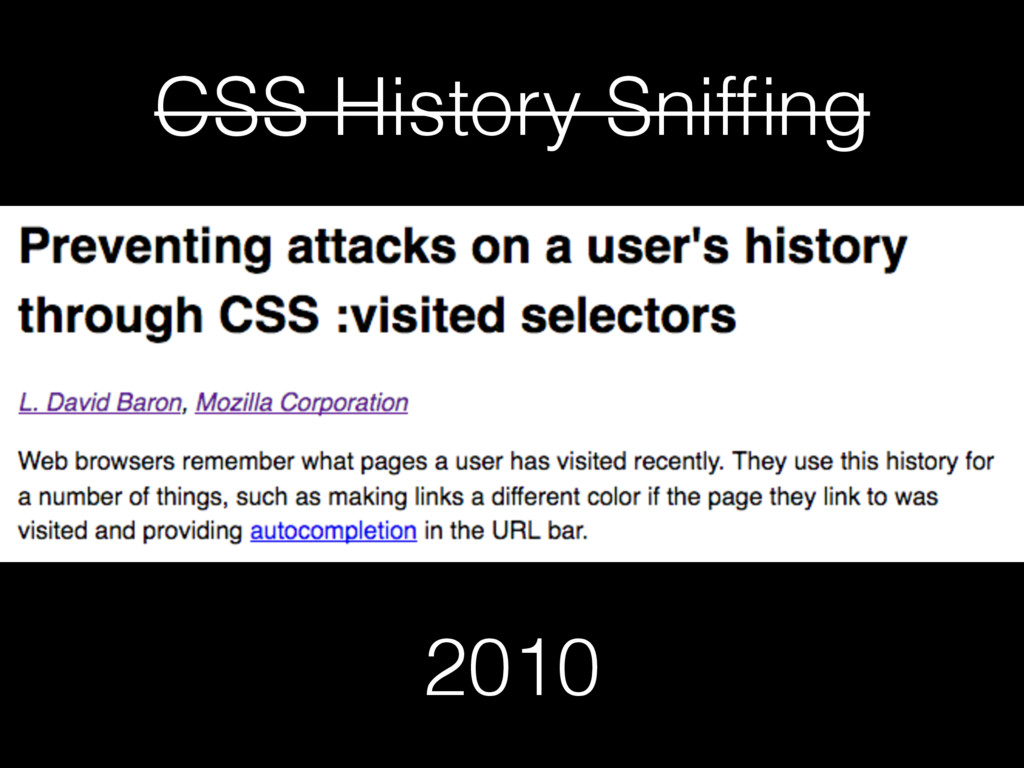 CSS History Sniffing 2010