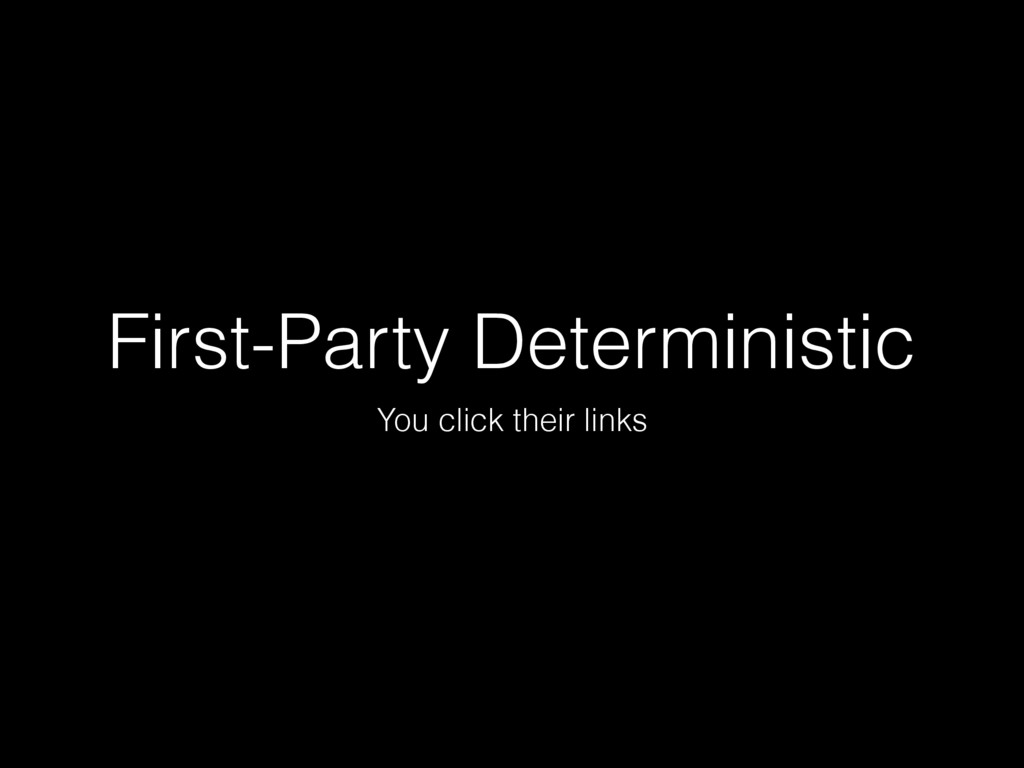 First-Party Deterministic You click their links