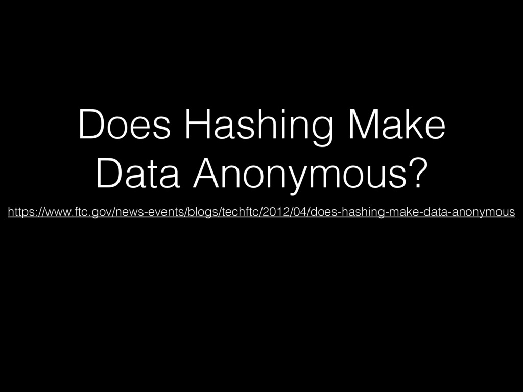 Does Hashing Make Data Anonymous? https://www.f...
