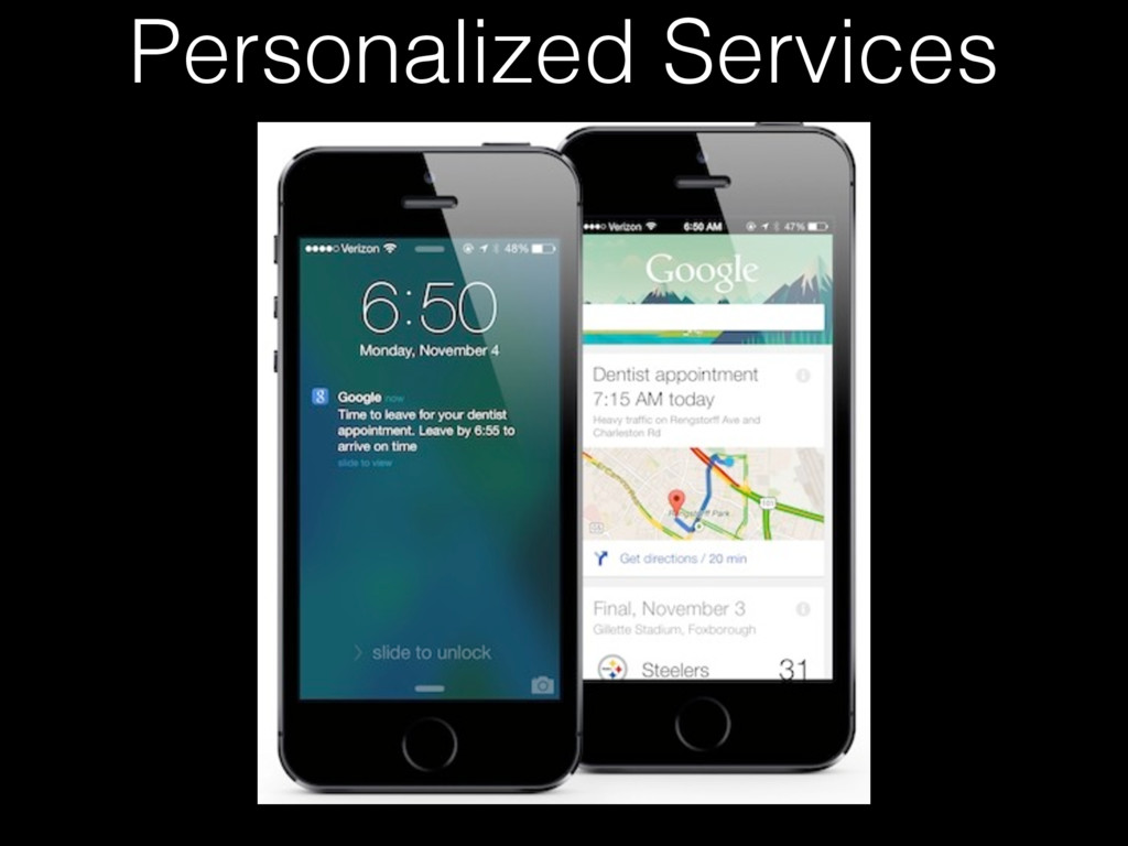 Personalized Services
