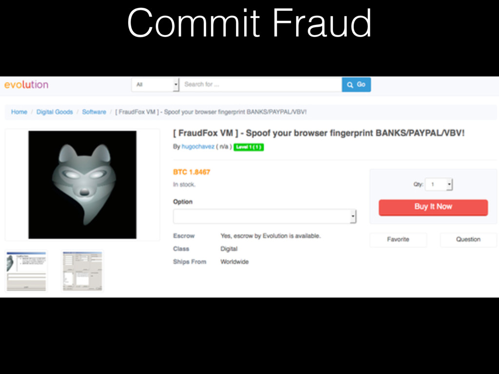 Commit Fraud
