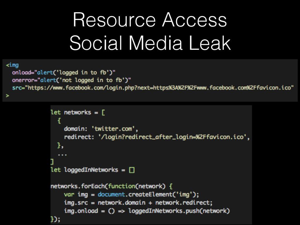 Resource Access Social Media Leak
