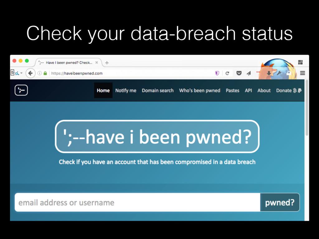 Check your data-breach status