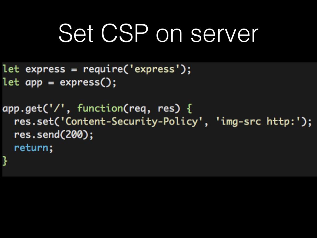 Set CSP on server