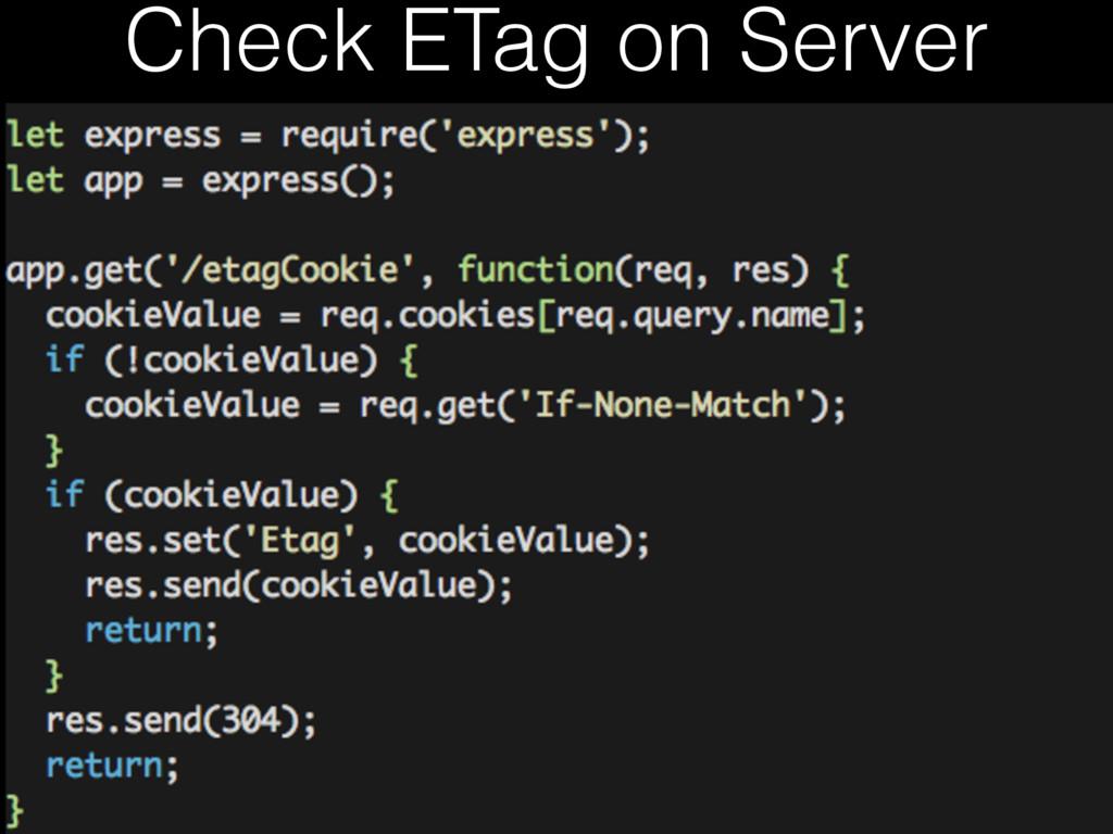 Check ETag on Server
