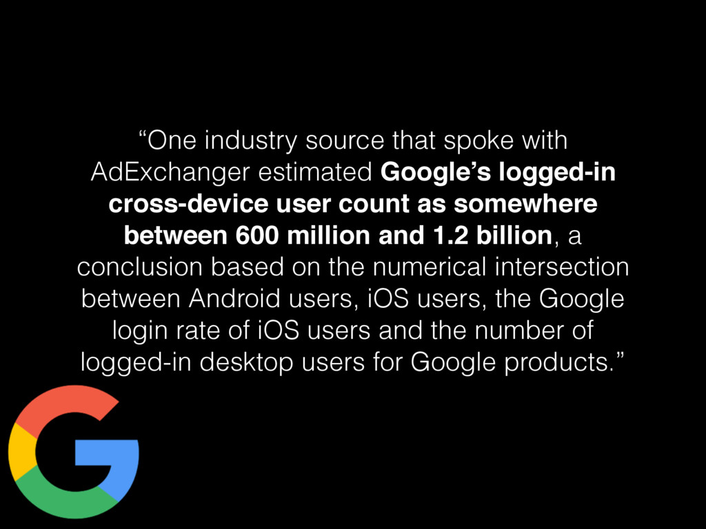 """One industry source that spoke with AdExchange..."