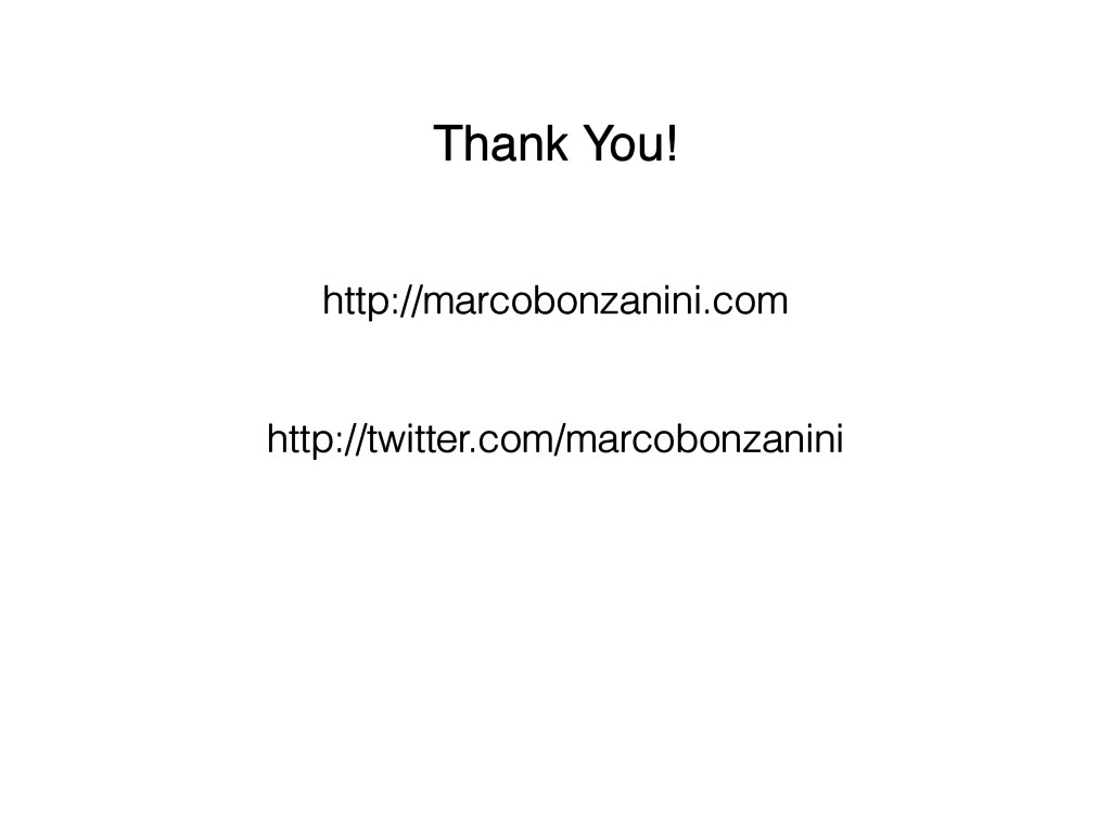 Thank You!! http://marcobonzanini.com http://tw...