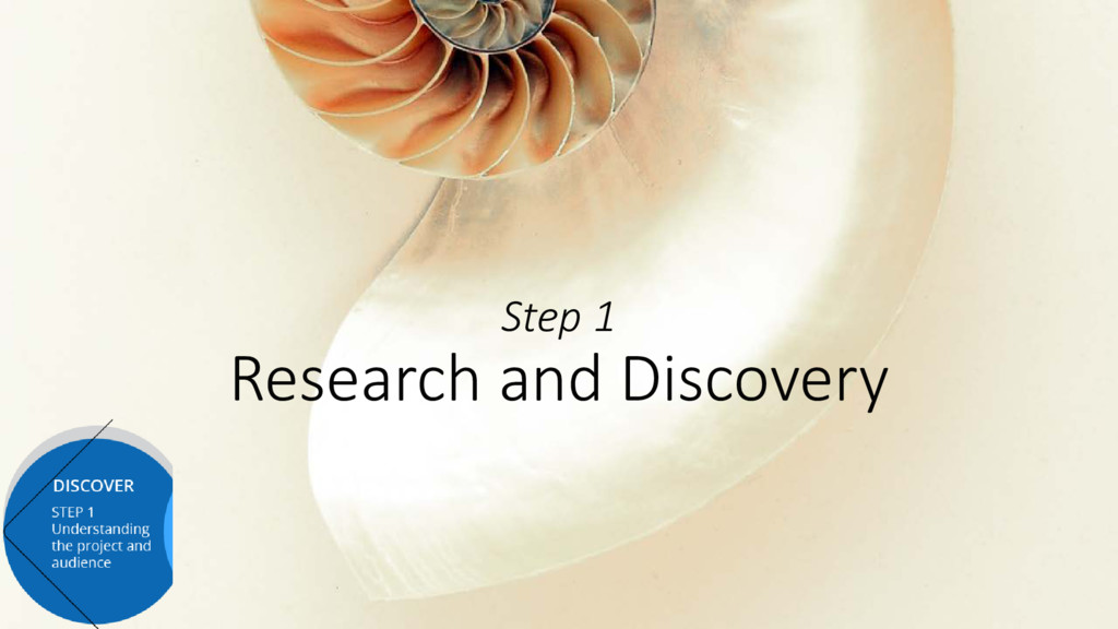 Step 1 Research and Discovery
