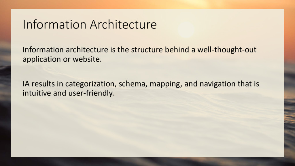 Information Architecture Information architectu...
