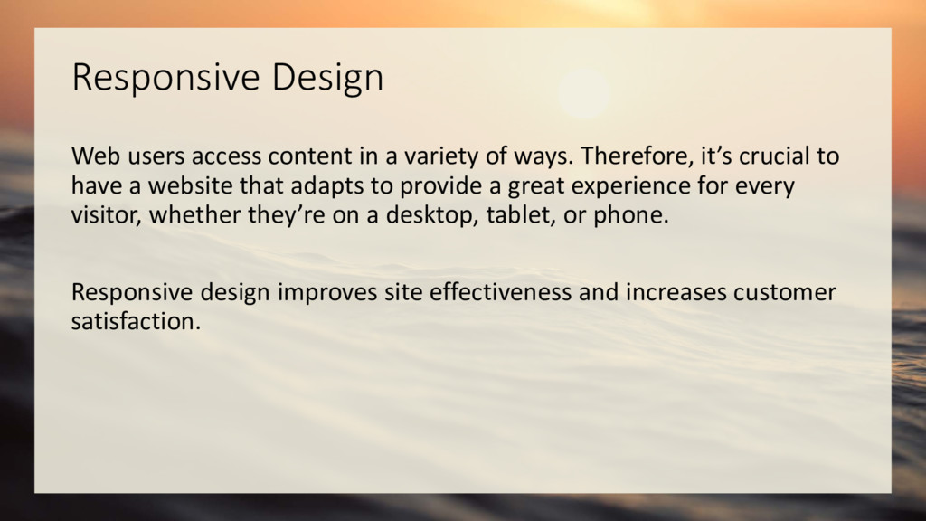 Responsive Design Web users access content in a...