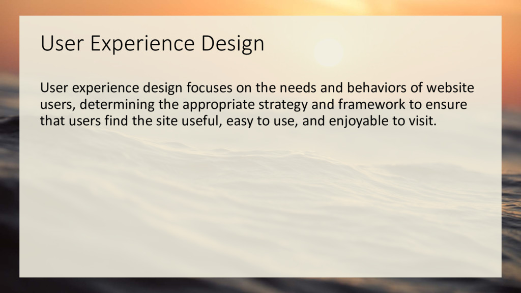 User Experience Design User experience design f...