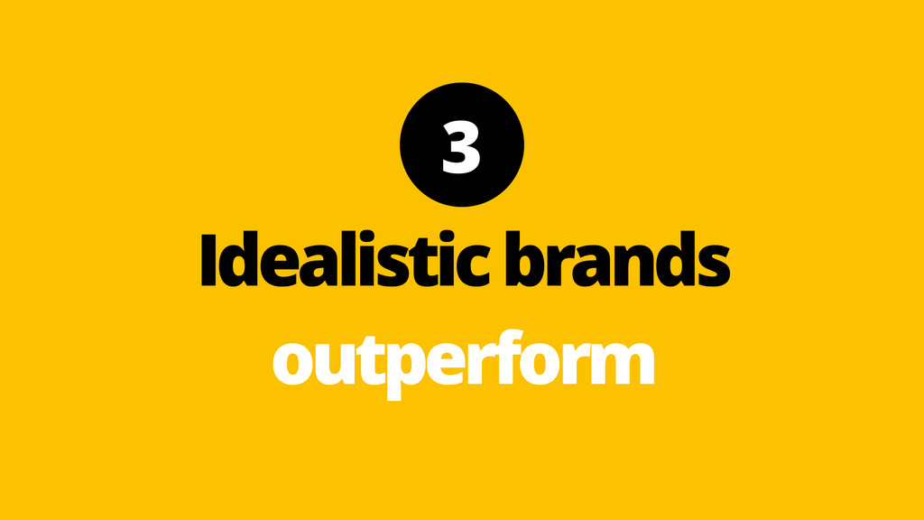 3 Idealistic brands outperform