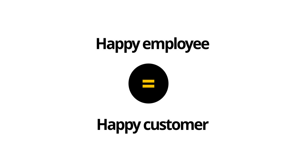Happy employee Happy customer =