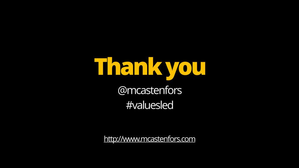 @mcastenfors #valuesled http://www.mcastenfors....