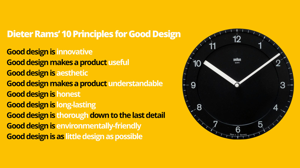 Good design is innovative Good design makes a p...
