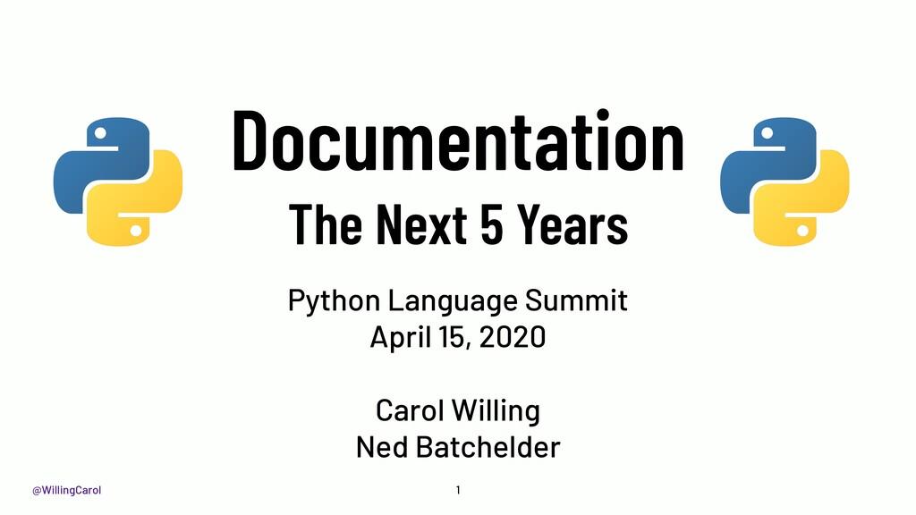 @WillingCarol Documentation The Next 5 Years Py...