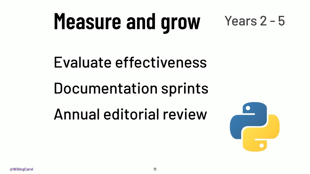@WillingCarol Measure and grow 11 Evaluate effe...