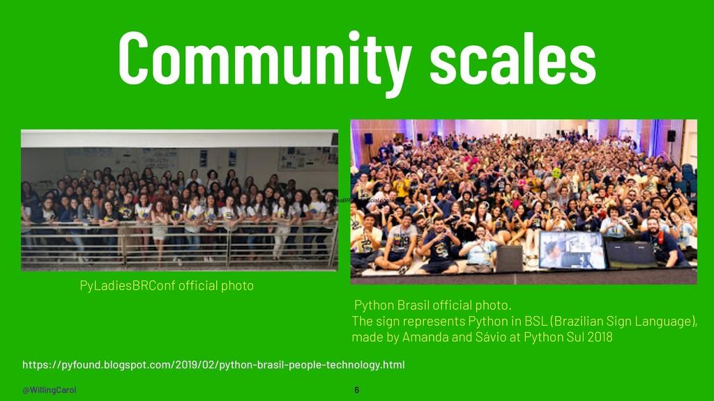@WillingCarol Community scales 6 Python Brasil ...